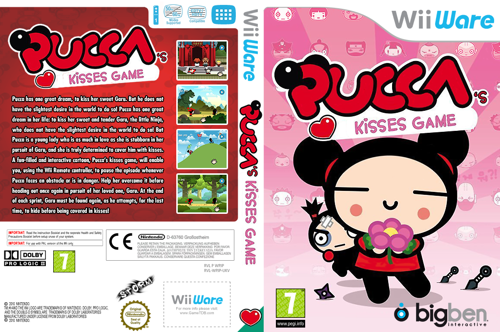 Pucca's Kisses Game Wii coverfullHQ (WPJP)