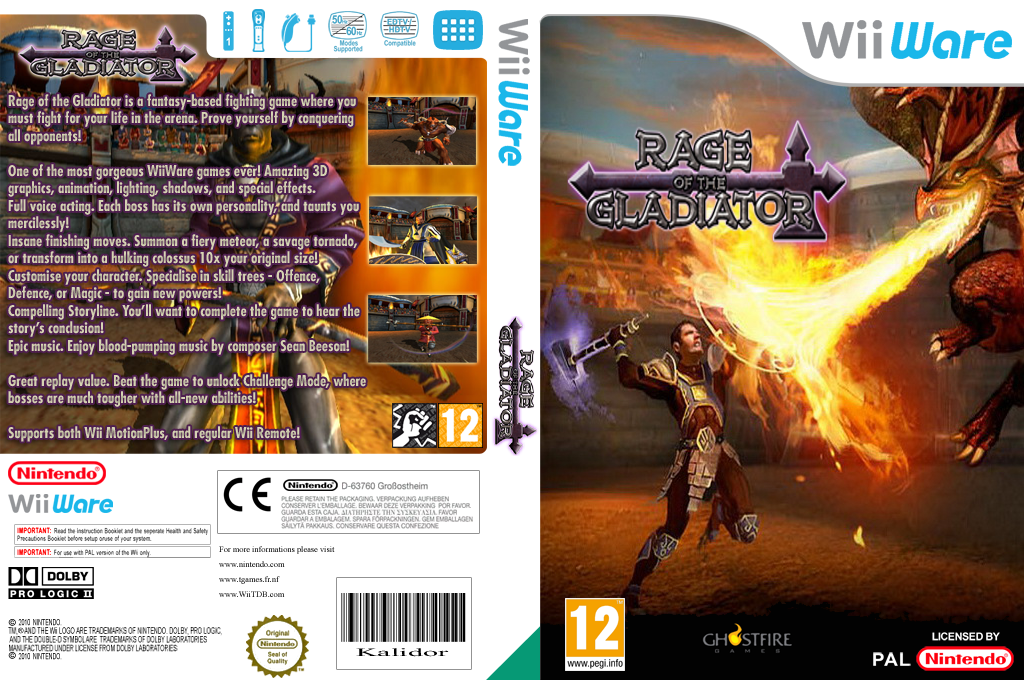Rage of the Gladiator Wii coverfullHQ (WRGP)