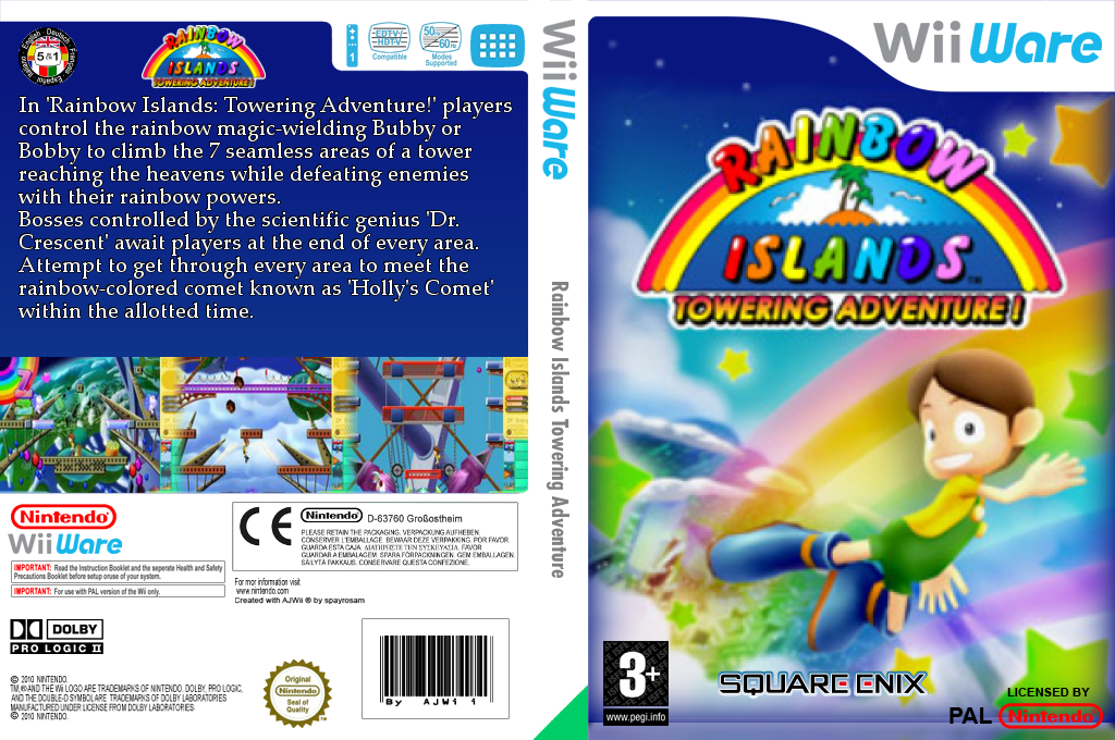 Rainbow Islands: Towering Adventure! Wii coverfullHQ (WRIP)