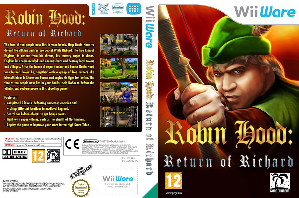 Robin Hood: The Return Of Richard Wii coverfullHQ (WRRP)