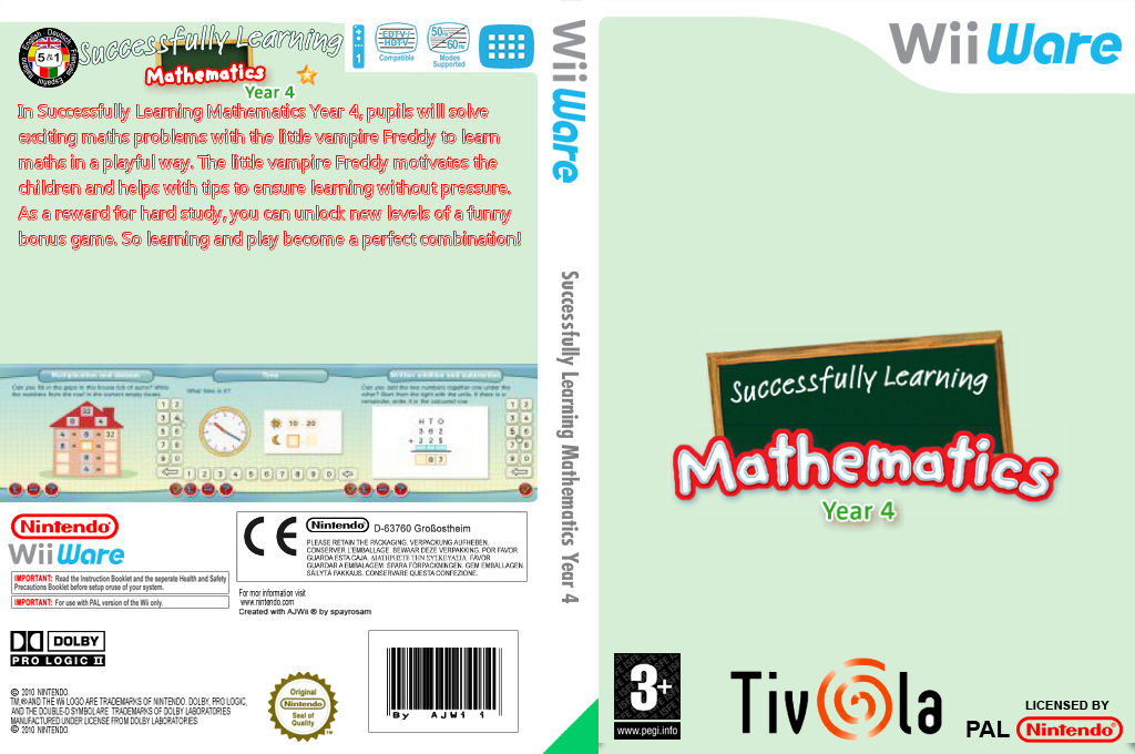 Successfully Learning Mathematics Year 4 Wii coverfullHQ (WU3P)