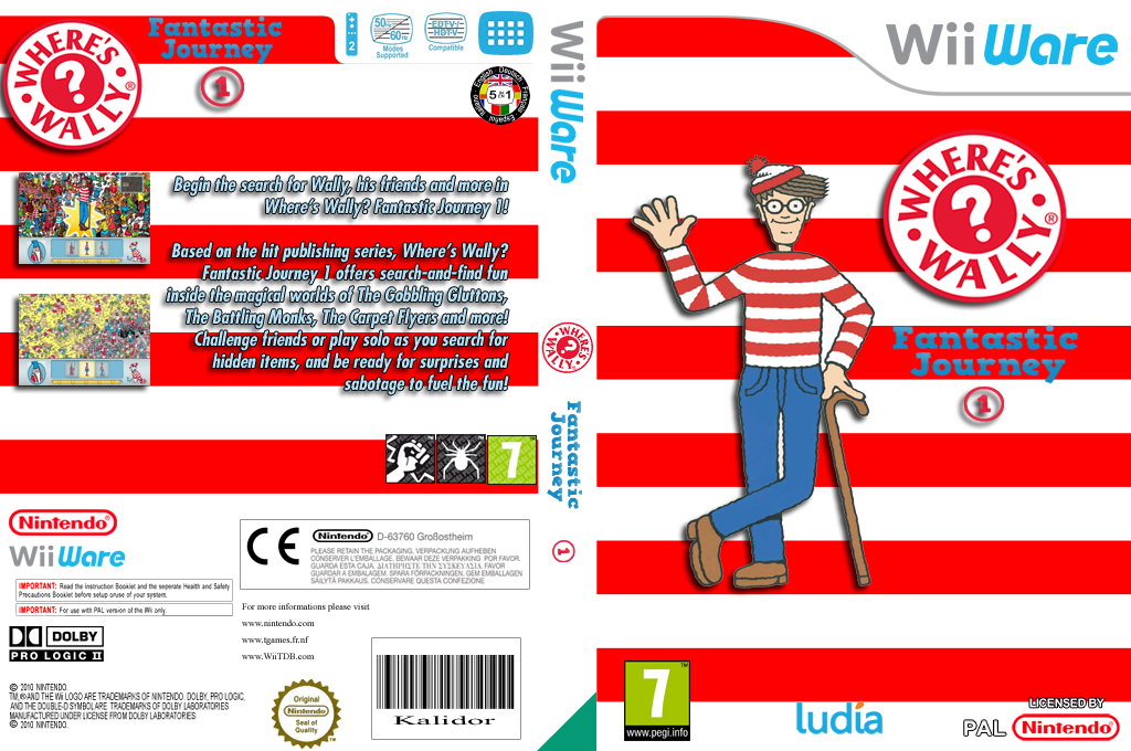 Where's Wally? Fantastic Journey 1 Wii coverfullHQ (WWIP)