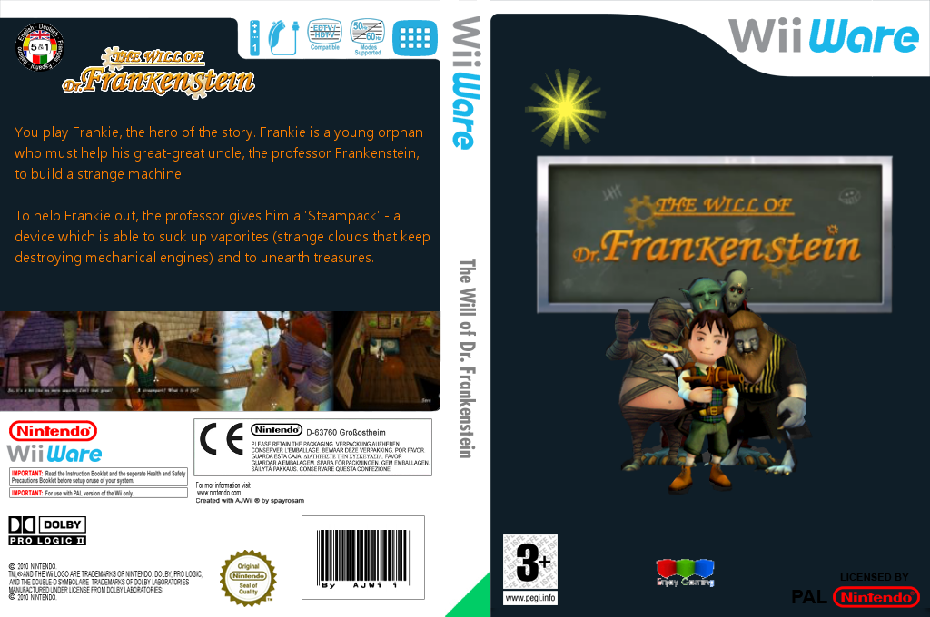 The Will of Dr. Frankenstein Wii coverfullHQ (WWLP)
