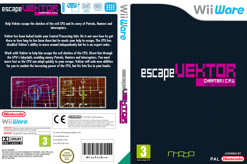 escapeVektor: Chapter 1 Wii coverfullHQ (WYIP)