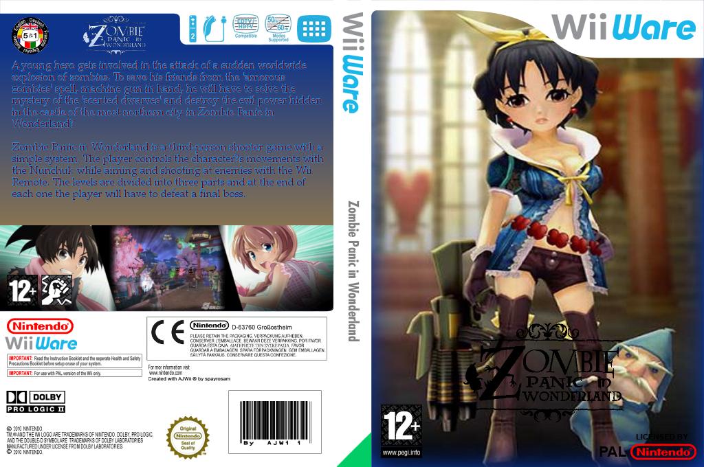 Zombie Panic in Wonderland Wii coverfullHQ (WZPP)