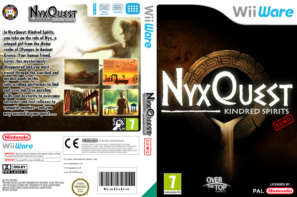 NyxQuest: Kindred Spirits (Demo) Wii coverfullHQ (XHDP)