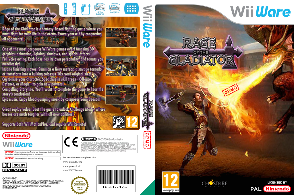 Gladiator Demo Wii coverfullHQ (XIHP)