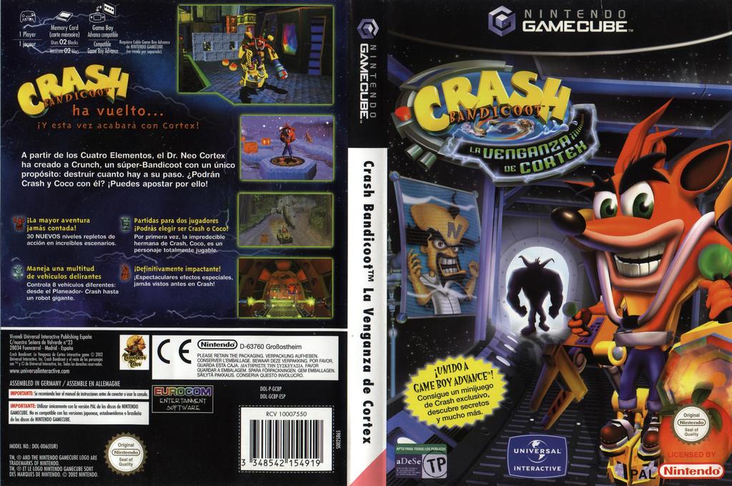 Crash Bandicoot: La Venganza de Cortex Wii coverfullHQ (GCBP7D)