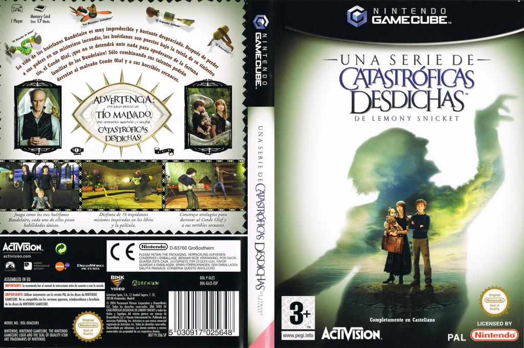 Una serie de Catastróficas Desdichas de Lemony Snicket Wii coverfullHQ (GLCS52)
