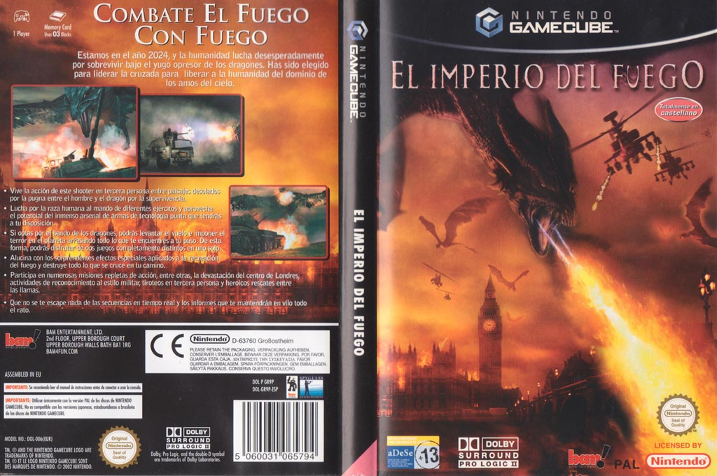El Imperio del Fuego Wii coverfullHQ (GR9P6L)