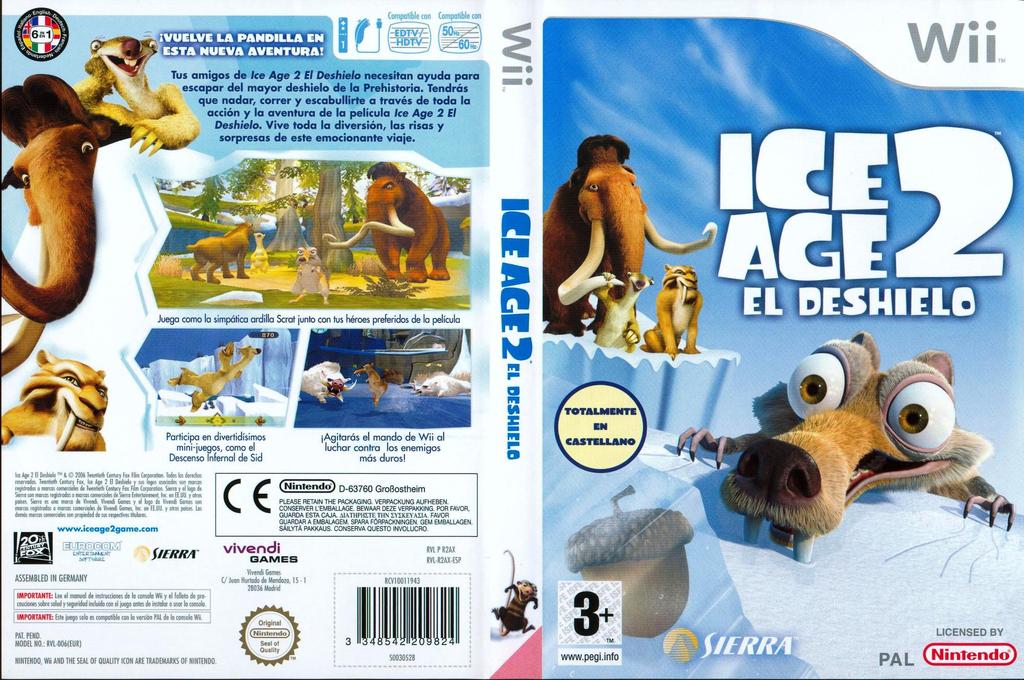Ice Age 2: El Deshielo Wii coverfullHQ (R2AP7D)