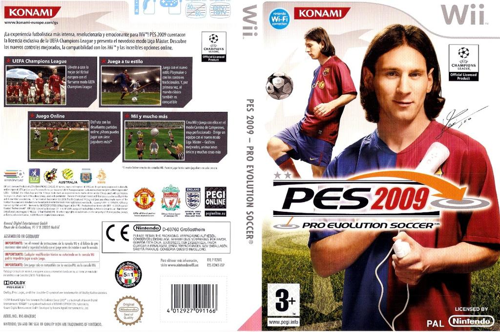 Pro Evolution Soccer 2009 Wii coverfullHQ (R2WPA4)