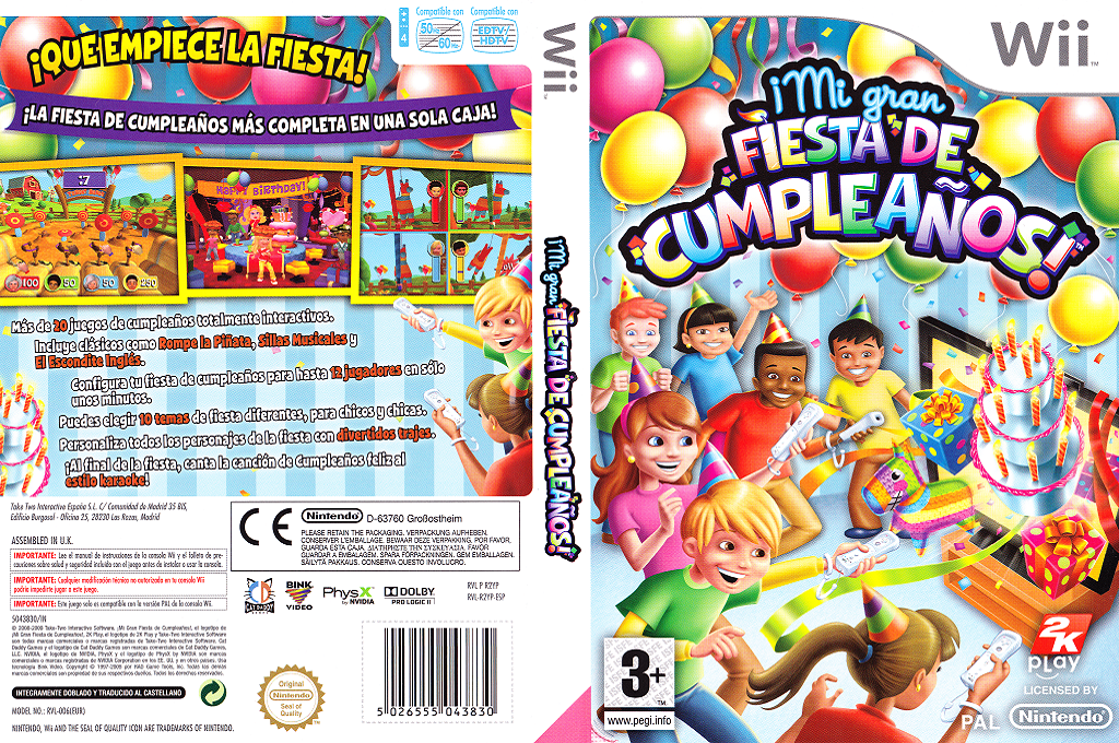 ¡Mi Gran Fiesta de Cumpleaños! Wii coverfullHQ (R2YP54)
