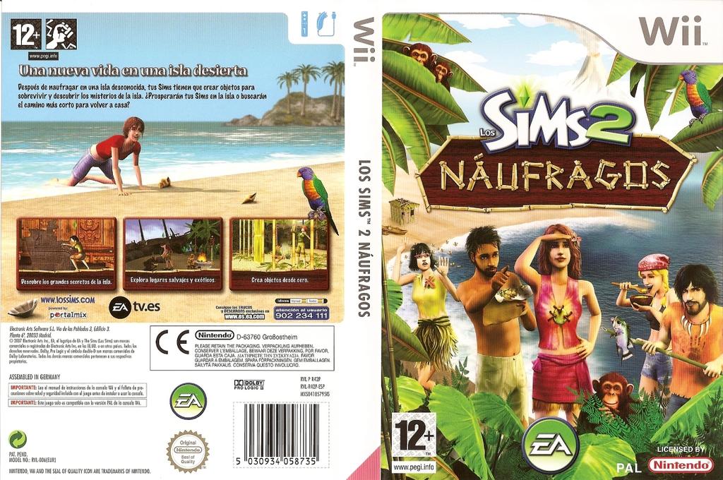 Los Sims 2: Náufragos Wii coverfullHQ (R42P69)