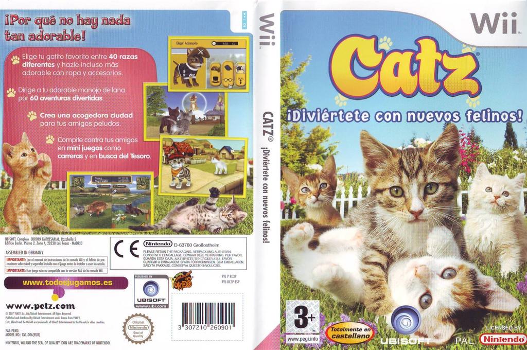 Catz: Diviértete con Nuevos Felinos Wii coverfullHQ (RC3X41)