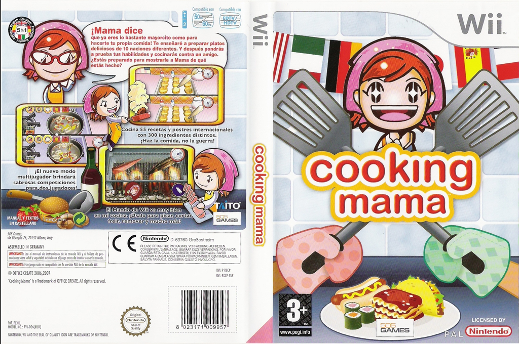 Cooking Mama Wii coverfullHQ (RCCPGT)