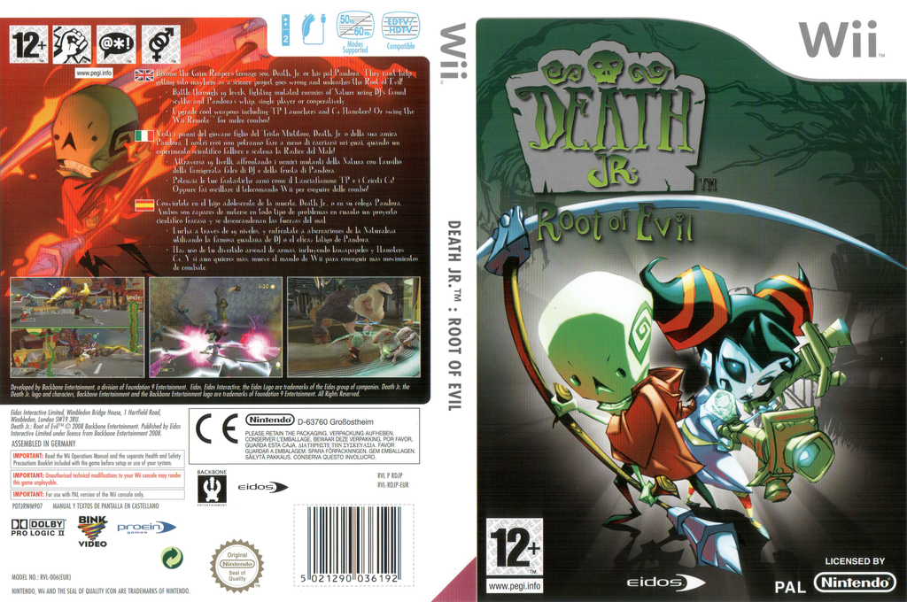 Death Jr.: Root of Evil Wii coverfullHQ (RDJP4F)