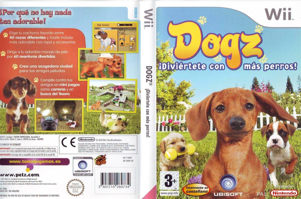 Dogz: ¡Diviértete con Más Perros! Wii coverfullHQ (RDOP41)