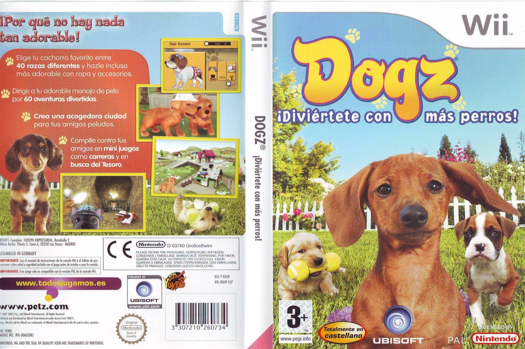 Dogz: ¡Diviértete con Más Perros! Wii coverfullHQ (RDOX41)