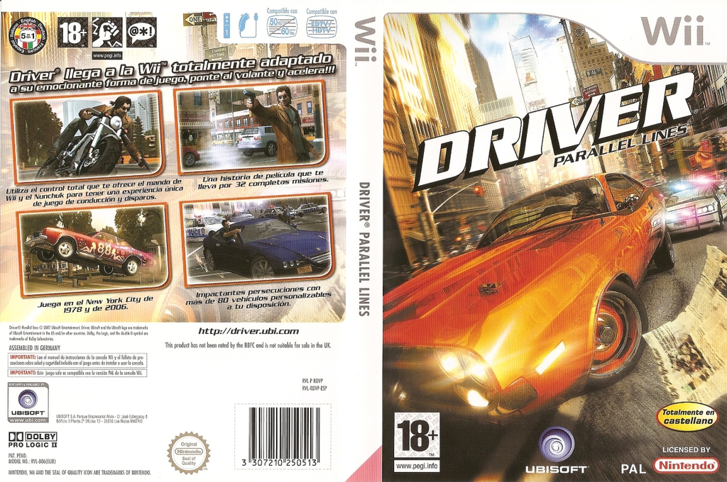 Driver: Parallel Lines Wii coverfullHQ (RDVP41)