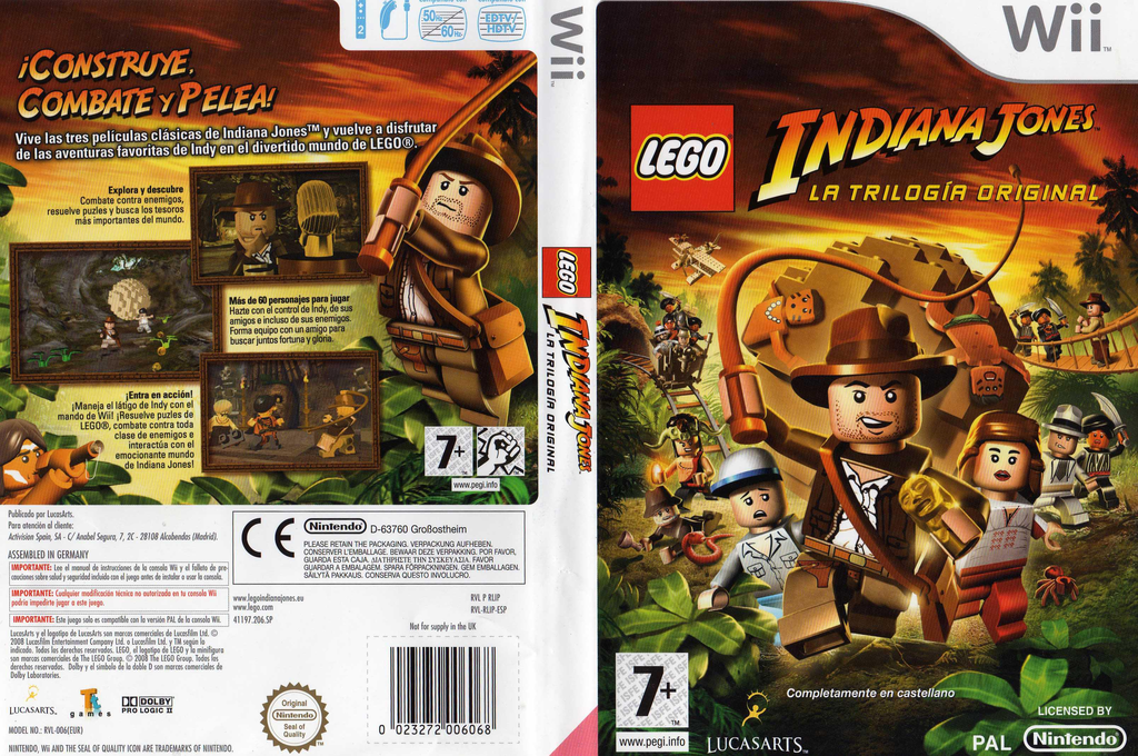 LEGO Indiana Jones: La Trilogía Original Wii coverfullHQ (RLIP64)