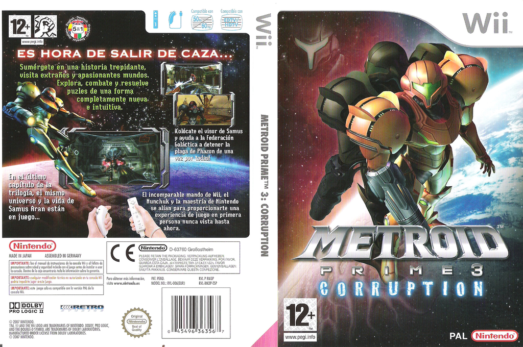 Metroid Prime 3: Corruption Wii coverfullHQ (RM3P01)