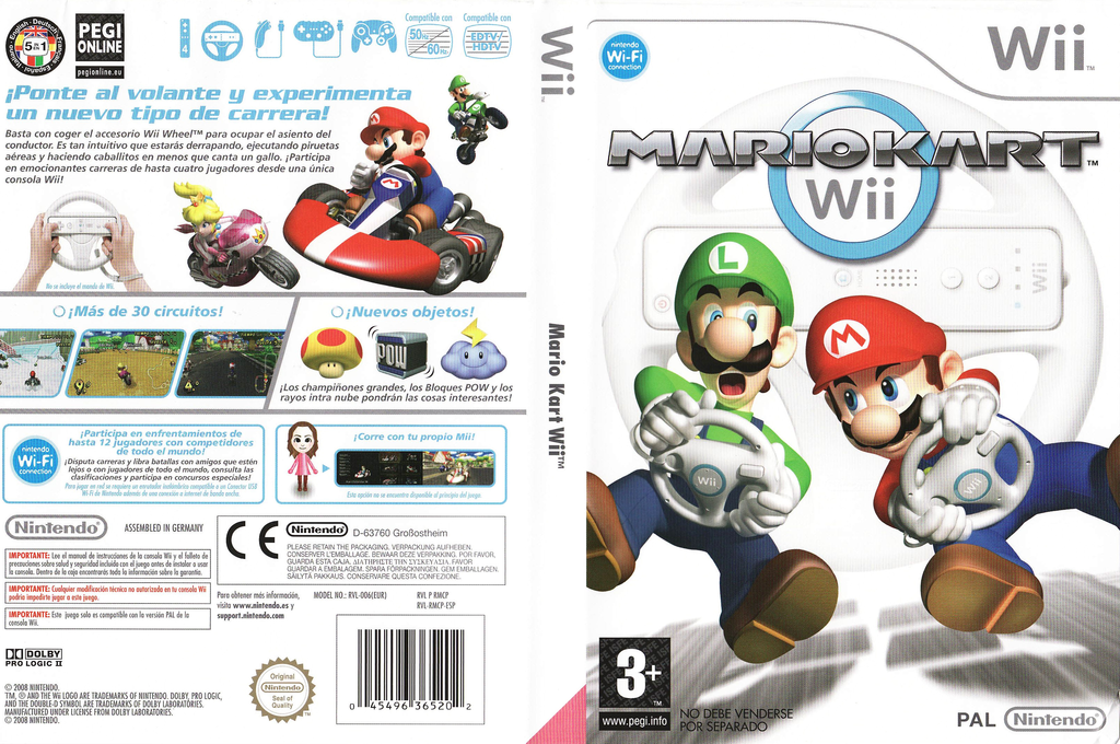 Mario Kart Wii Wii coverfullHQ (RMCP01)