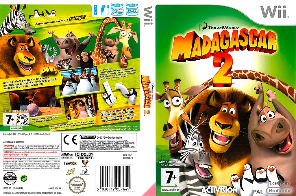 Madagascar 2: El Videojuego Wii coverfullHQ (RRGP52)