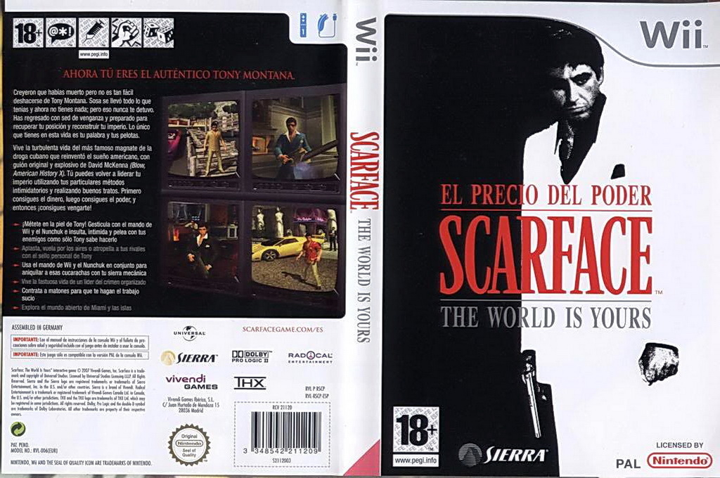 Scarface: The World Is Yours Wii coverfullHQ (RSCU7D)