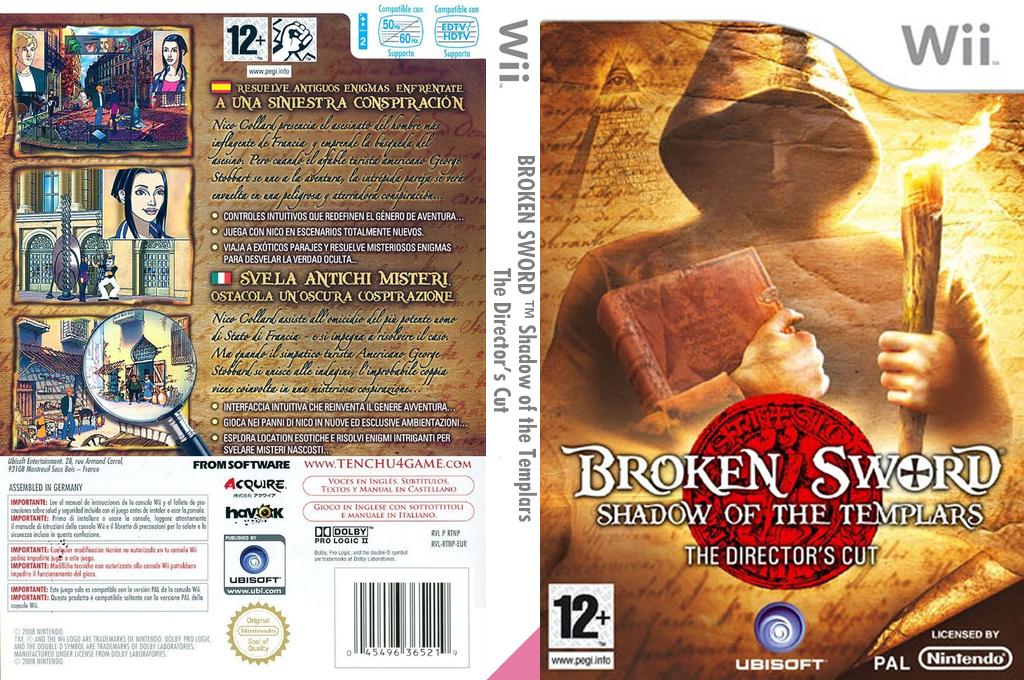 Broken Sword: Shadow of the Templars - The Director's Cut Wii coverfullHQ (RSJP41)
