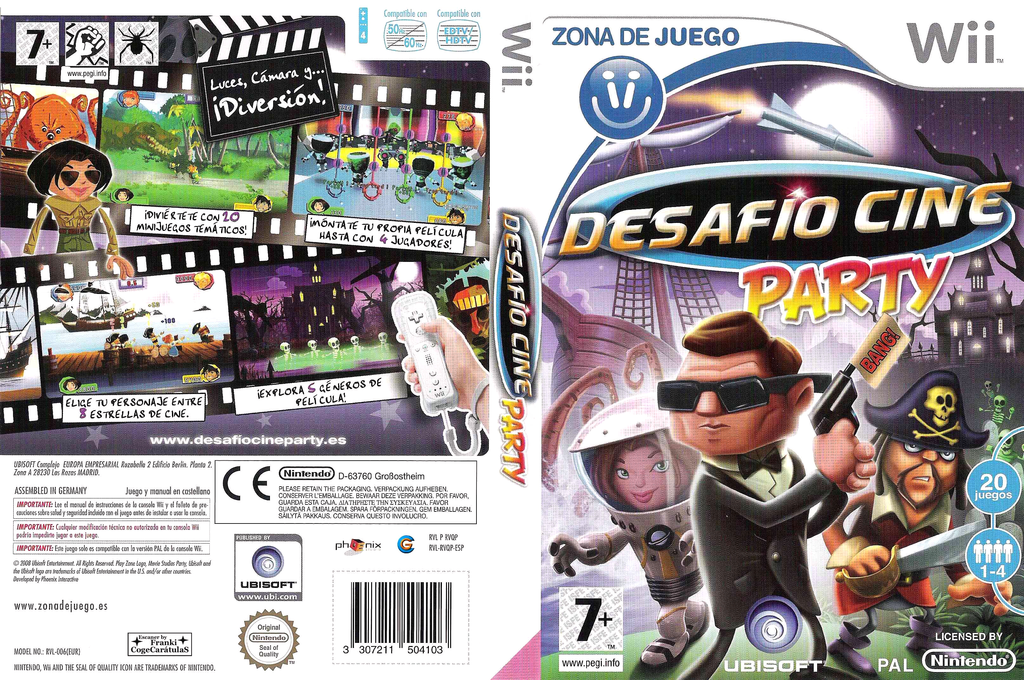 Desafío Cine Party Wii coverfullHQ (RVQP41)
