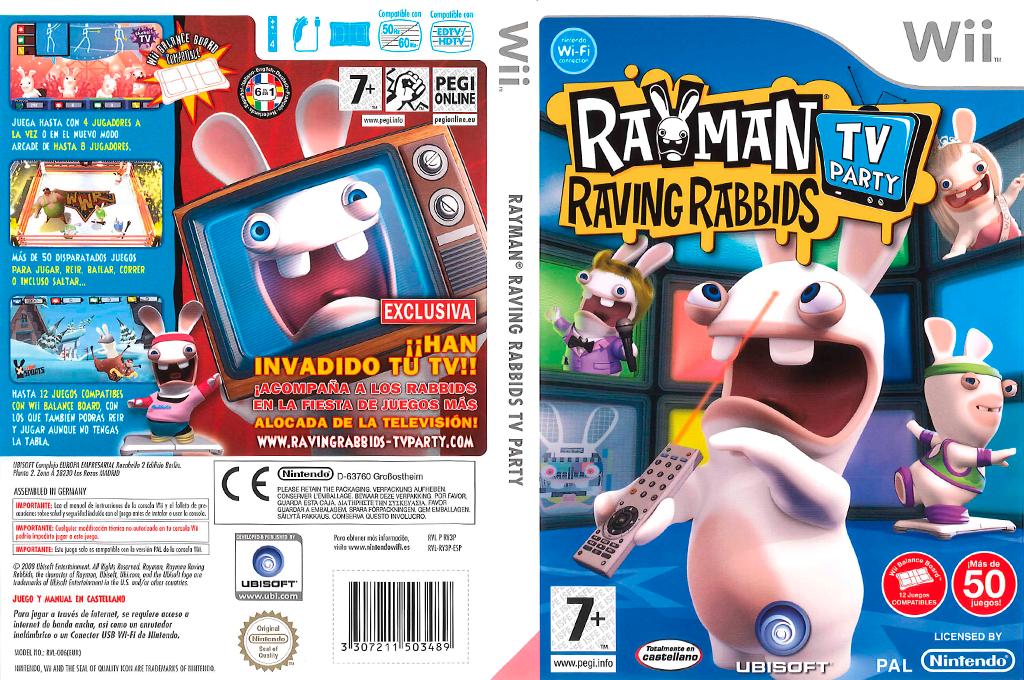 Rayman Raving Rabbids: TV Party Wii coverfullHQ (RY3P41)