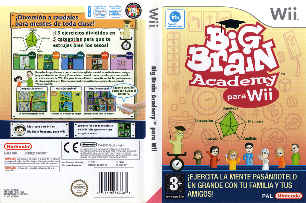 Big Brain Academy para Wii Array coverfullHQ (RYWP01)