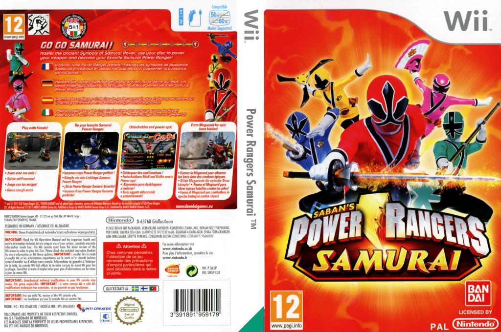 Power Rangers Samurai Wii coverfullHQ (SM5PAF)