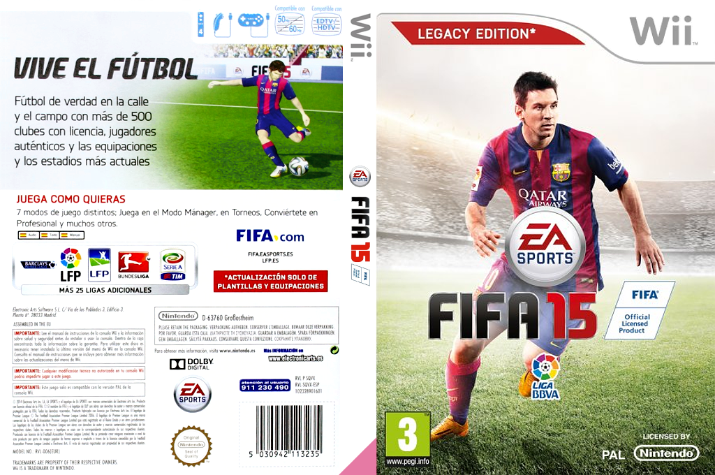 FIFA 15 - Legacy Edition Wii coverfullHQ (SQVX69)