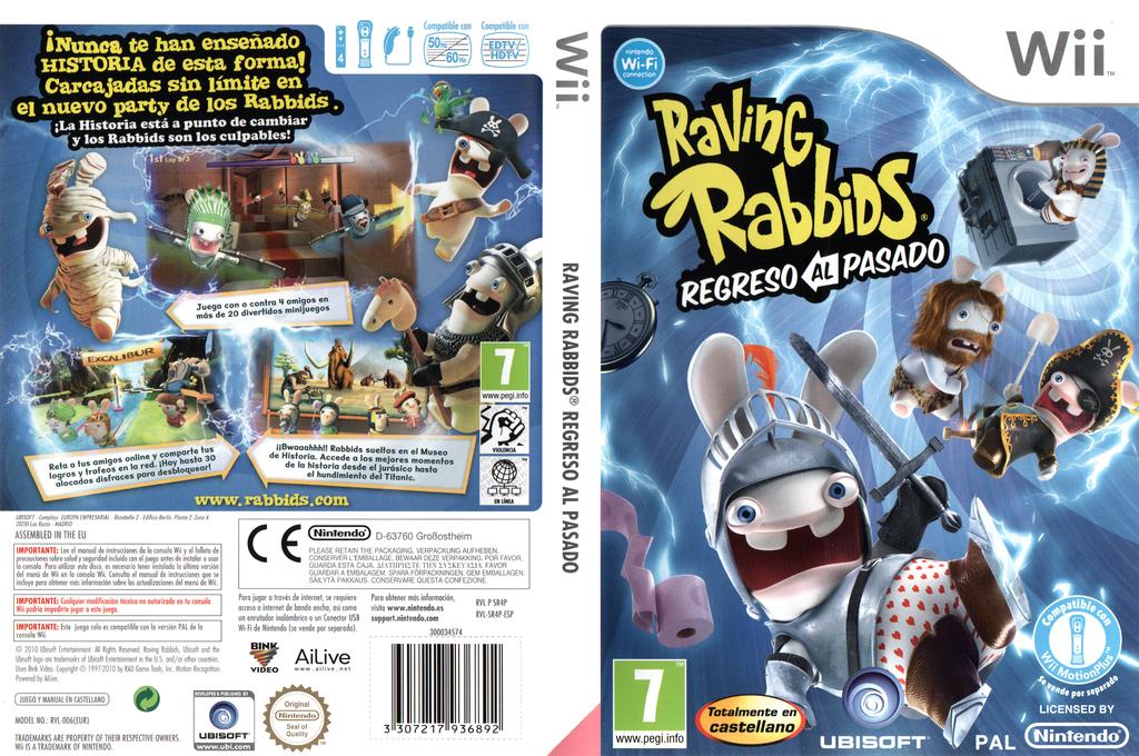 Raving Rabbids: Regreso al Pasado Wii coverfullHQ (SR4P41)