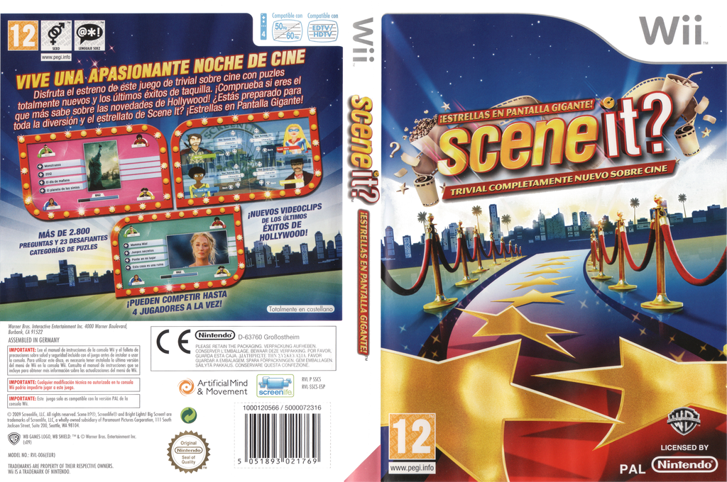 Scene It? Estrellas en Pantalla Gigante Wii coverfullHQ (SSCSWR)