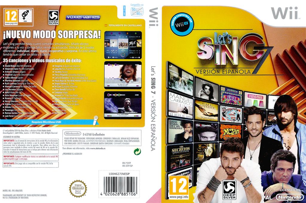 Let's Sing 7 - Versión Española Wii coverfullHQ (SY7PKM)