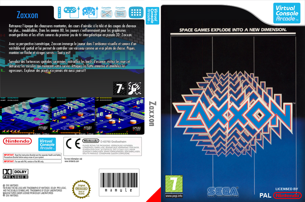 Zaxxon Wii coverfullHQ (E6VP)