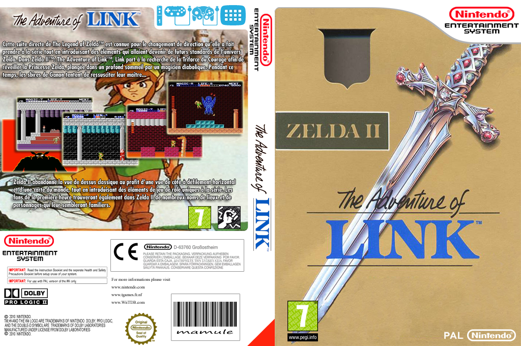 Zelda II : The Adventure of Link Wii coverfullHQ (FA9P)
