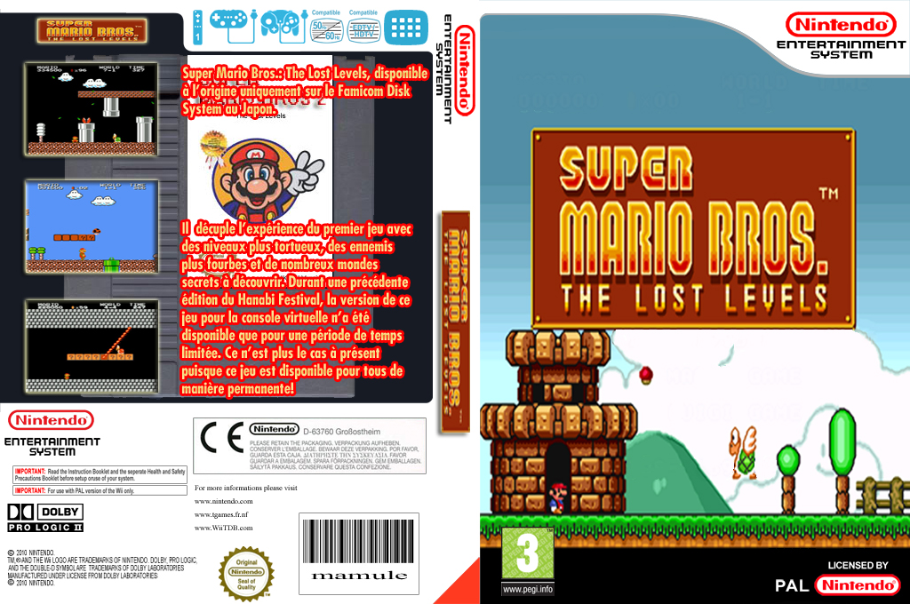 Super Mario Bros. : The Lost Levels Wii coverfullHQ (FB2L)