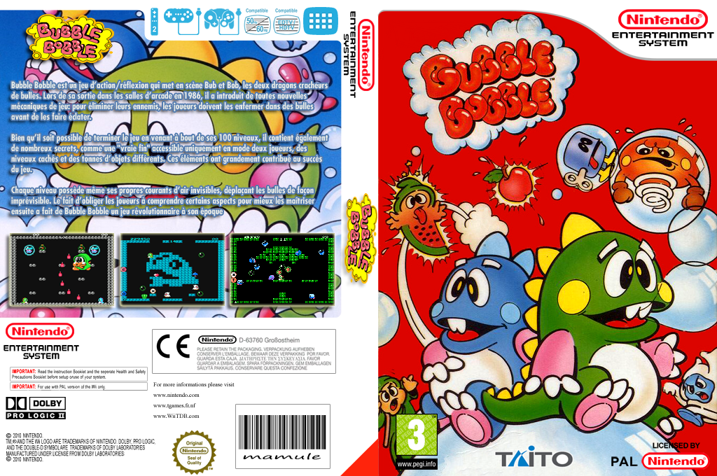 Bubble Bobble Wii coverfullHQ (FC3P)