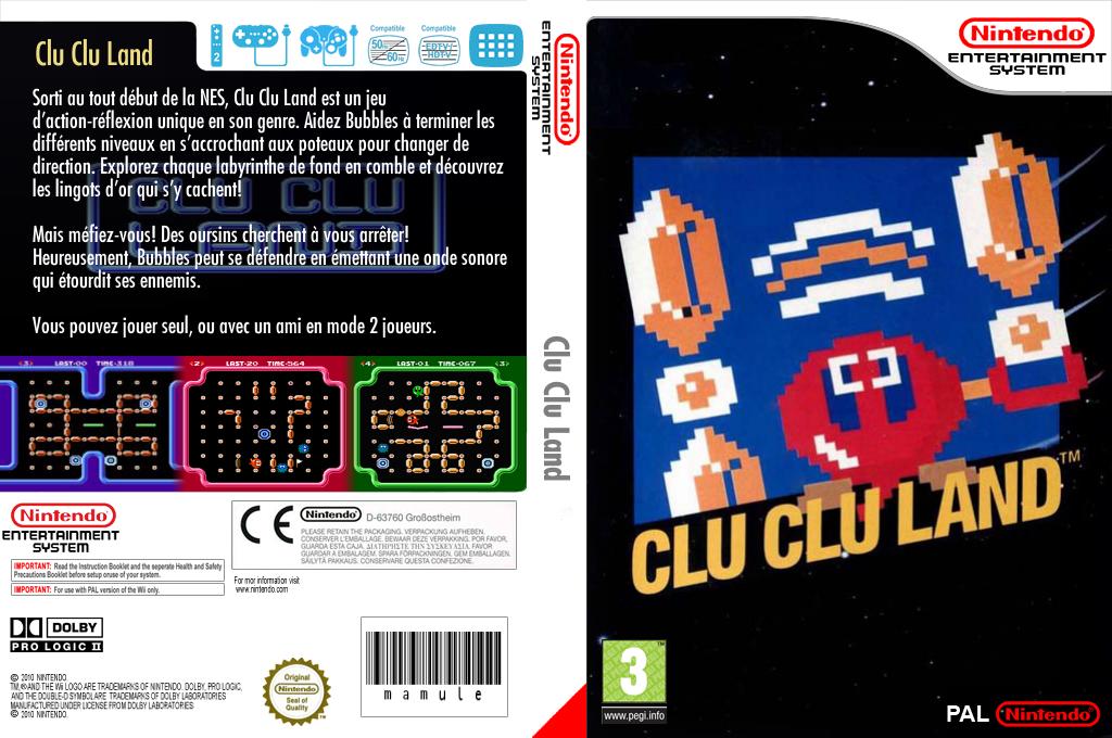 Clu Clu Land Wii coverfullHQ (FESP)