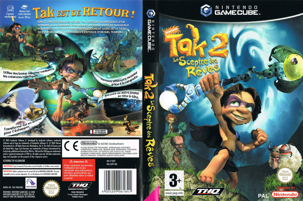 Tak 2: Le Sceptre des Rêves Wii coverfullHQ (G2FF78)
