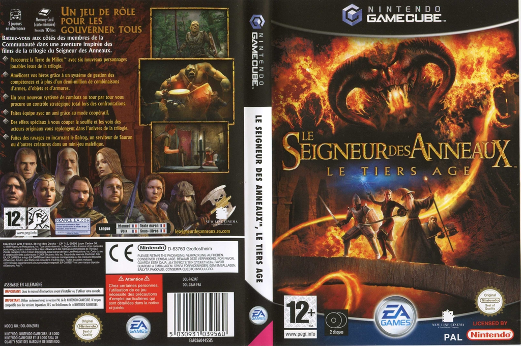 Le Seigneur des Anneaux:Le Tiers Âge Wii coverfullHQ (G3AF69)