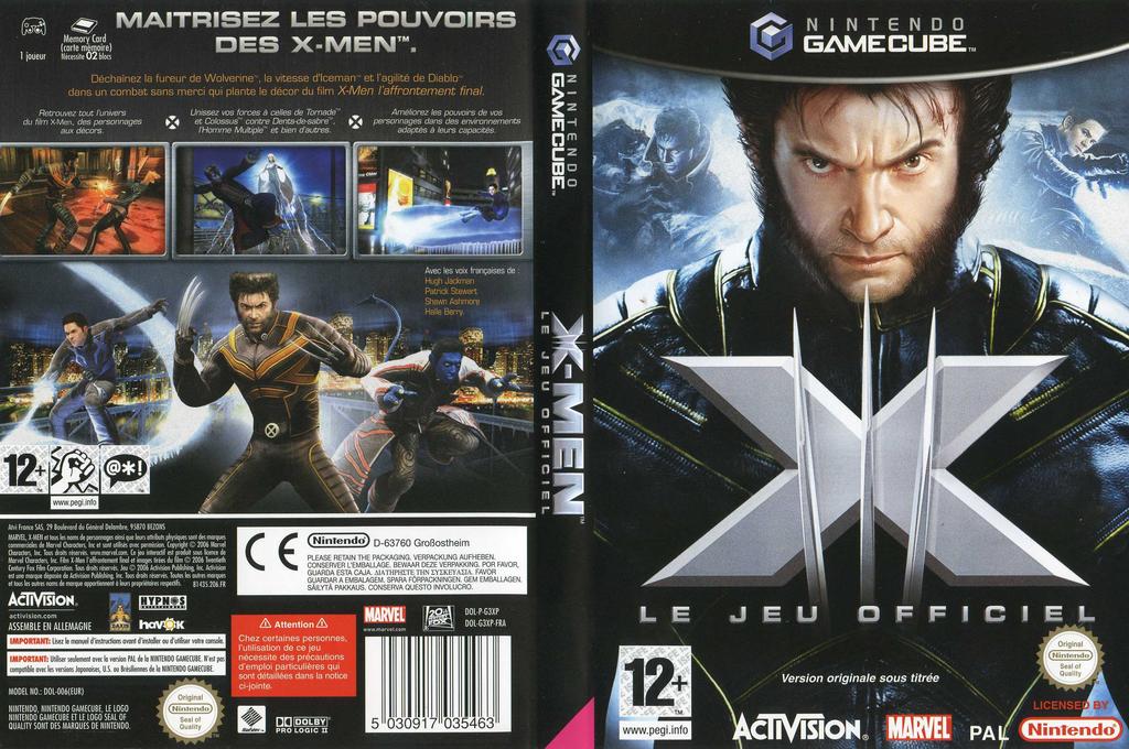 X-Men: Le Jeu Officiel Wii coverfullHQ (G3XP52)