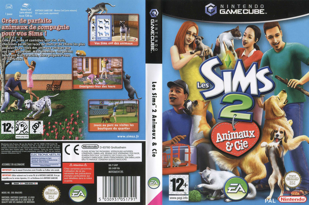 Les Sims 2 : Animaux & Cie Wii coverfullHQ (G4OP69)