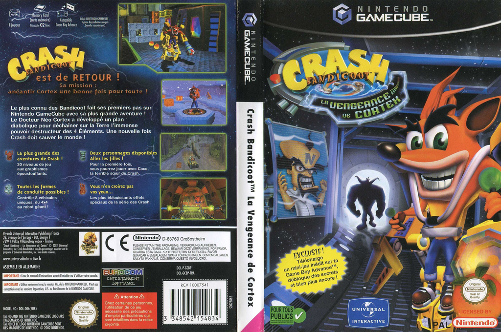 Crash Bandicoot : La Vengeance de Cortex Wii coverfullHQ (GCBP7D)
