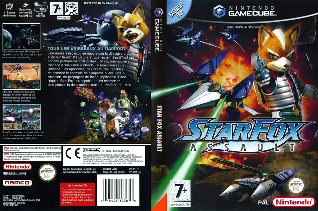 Star Fox Assault Wii coverfullHQ (GF7P01)