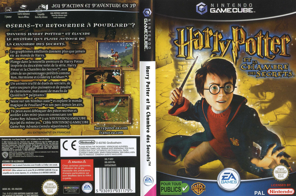 Harry Potter et la Chambre des Secrets Wii coverfullHQ (GHSY69)